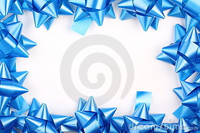 Blue Christmas Gift Bows