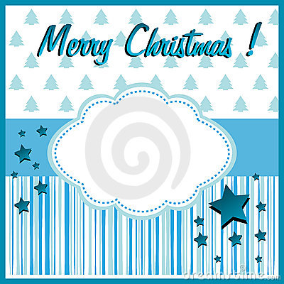 Blue Christmas greeting