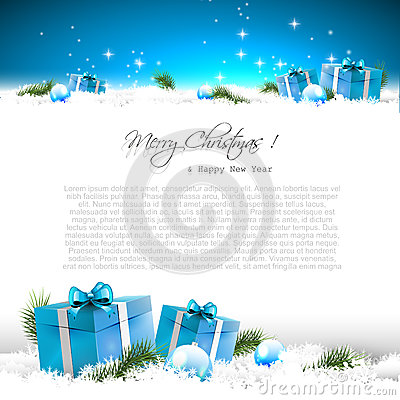 Free Blue Christmas Greeting Card Stock Photos - 43397823