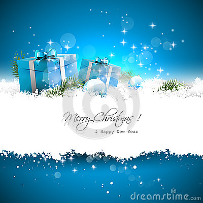 Free Blue Christmas Greeting Card Stock Photography - 43397852