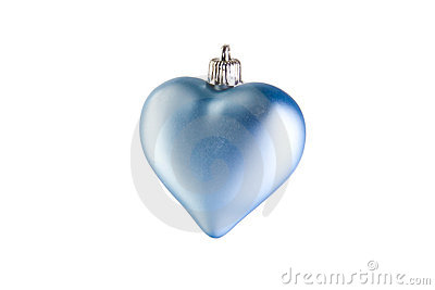 Blue christmas heart