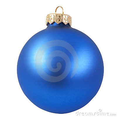 Free Blue Christmas Ornament Royalty Free Stock Photo - 11342545