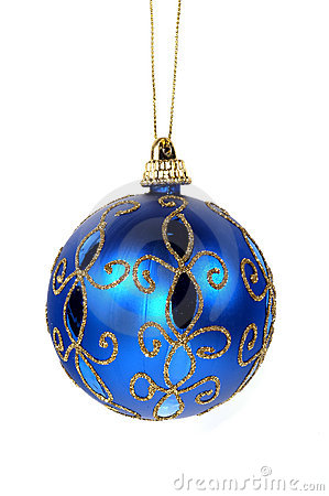 Free Blue Christmas Ornament Stock Photo - 304970