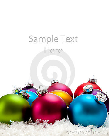 A blue Christmas ornament/bauble with copy space
