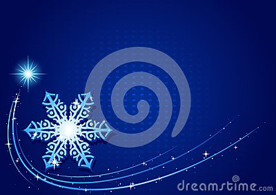 Blue Christmas Snowflake