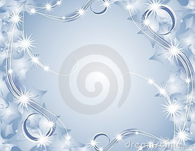 Blue Christmas Sparkling Lights Background