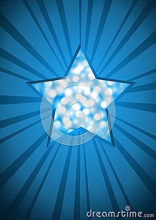 Blue Christmas star card