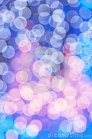 Blue Christmas trees bokeh
