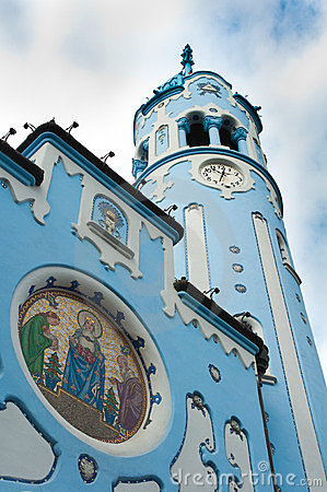 Free Blue Church In Bratislava Royalty Free Stock Image - 24071506