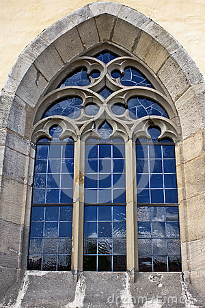 Free Blue Church Window  Stock Image - 25668941