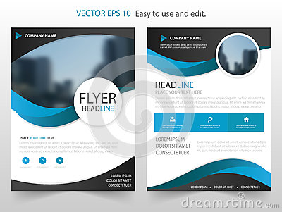 Blue Circle annual report Brochure design template vector. Business Flyers infographic magazine poster.Abstract layout template Vector Illustration