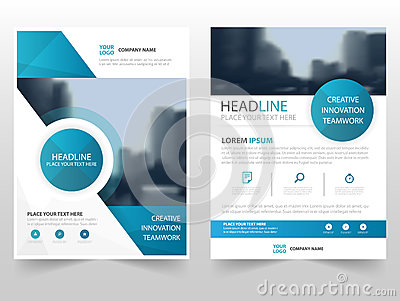Blue circle technology business Brochure Leaflet Flyer annual report template design, book cover layout design Vector Illustration
