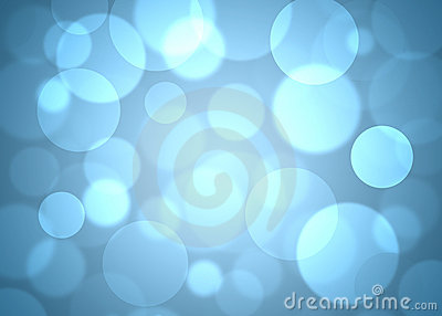 Blue circles abstract background