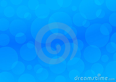 Blue circles. Abstract background