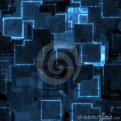 Free Blue Circuitry Royalty Free Stock Photography - 9865687