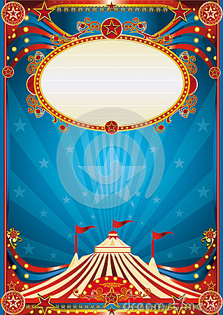 Free Blue Circus Background Stock Image - 24992251