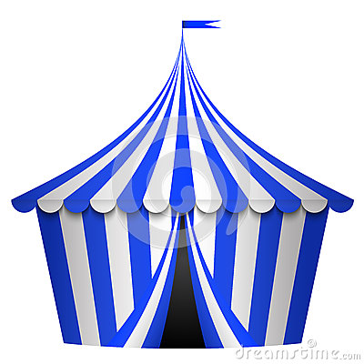 Free Blue Circus Tent Stock Images - 27952554