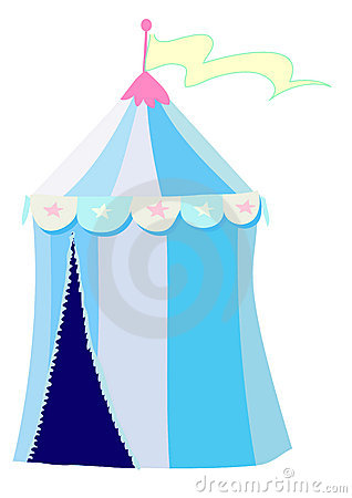Blue circus tent
