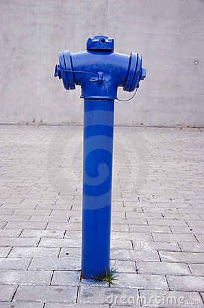 Free Blue City Hydrant Royalty Free Stock Photography - 22276337