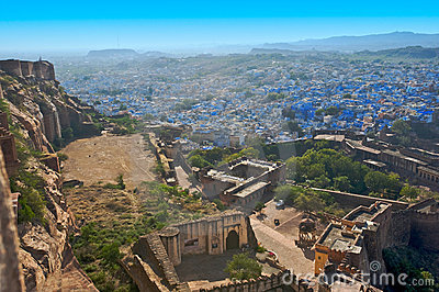 The blue city of Rajasthan Jodhpur