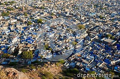 The blue city of Rajasthan Jodhpur