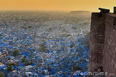 The blue city of Rajasthan Jodhpur.India