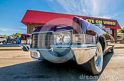 BLue classic car Editorial Photography
