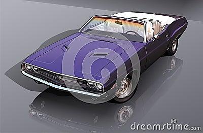 Blue Classic Convertible Car