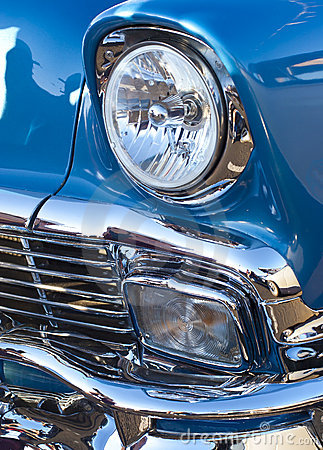 Blue Classic Headlight and Grill