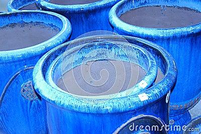 Blue Clay Pots