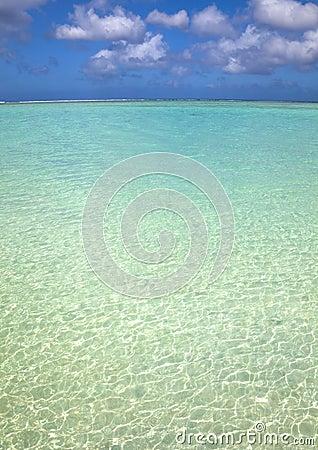 Blue clean water