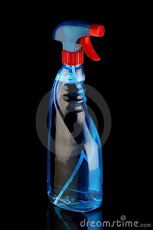 Blue Cleaning Solution Spray Bottle Royalty Free Stock Photo - Image: 14367145
