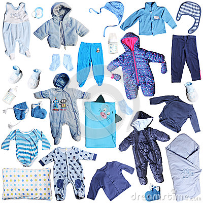 Free Blue Clothes For Baby Boy Royalty Free Stock Photos - 37181308
