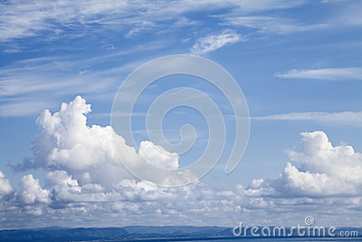 Blue and cloudy sky