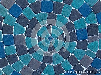 Blue cobblestone road