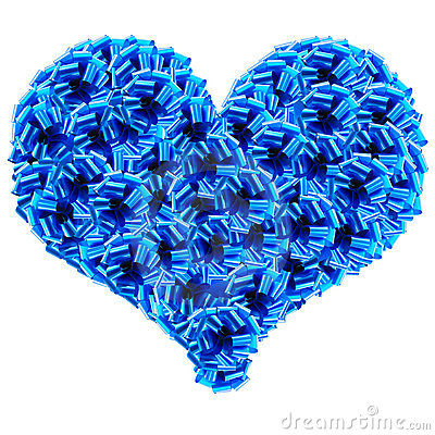 Blue Cockades Heart