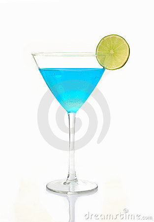 Free Blue Cocktail Royalty Free Stock Photo - 14047805