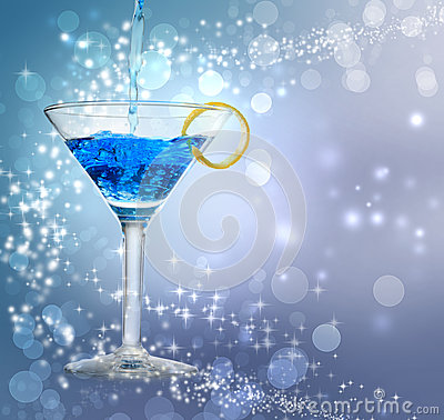 Free Blue Cocktail Stock Photo - 27222000