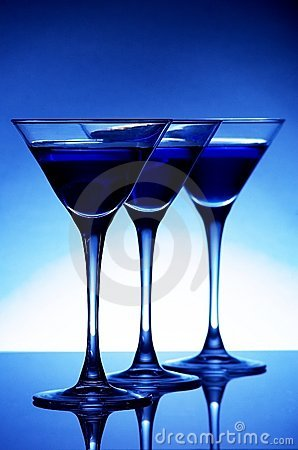 Free Blue Cocktail Stock Image - 5343231