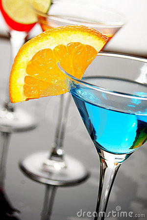Free Blue Cocktail Drink Stock Photography - 13938732