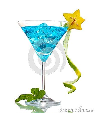 Free Blue Cocktail In Martini Glasses Stock Photo - 23680230