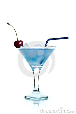 Free Blue Cocktail Martini Royalty Free Stock Photography - 19972737