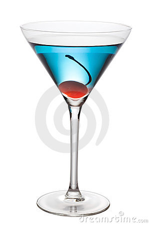 Free Blue Cocktail With Pen Path Stock Photos - 15986653