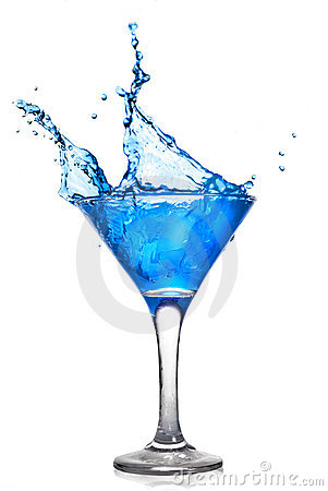 Free Blue Cocktail With Splash Stock Images - 13447234