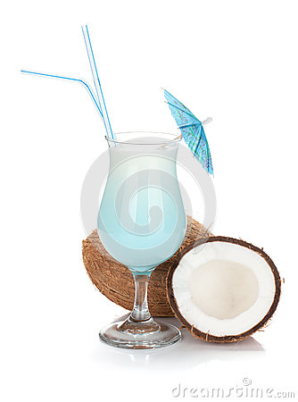 Free Blue Coconut Cream Cocktail Stock Photos - 34740293