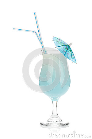 Free Blue Coconut Cream Cocktail Royalty Free Stock Photo - 42112285