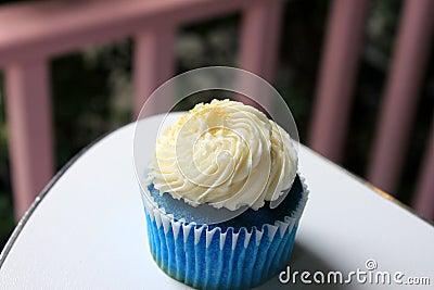 Blue coconut cupcake