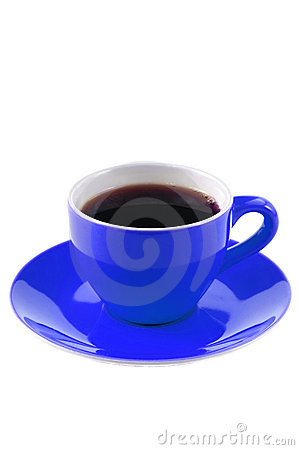 Blue Coffee Cup Stock Images - Image: 12499944