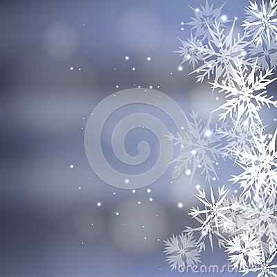 Blue Cold Christmas Background