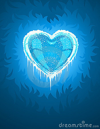 Blue cold icy heart